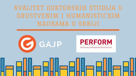 Istraživanje o kvalitetu doktorskih studija u društvenim naukama u Srbiji