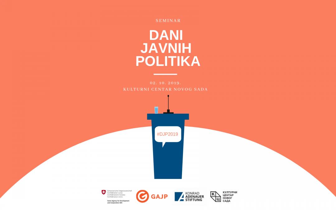 [NAJAVA] Dani javnih politika 2019. ove godine i u Novom Sadu