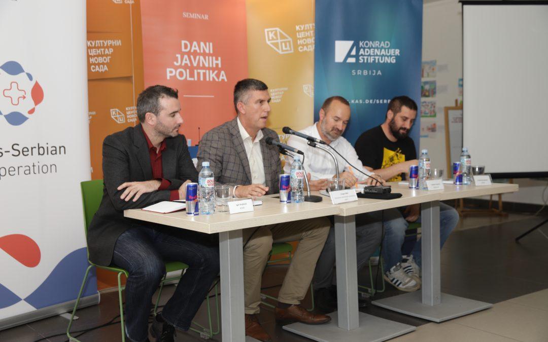 """Održani prvi Dani javnih politika u Novom Sadu: """"Veće učešće mladih preduslov za bolje društvo"""""""