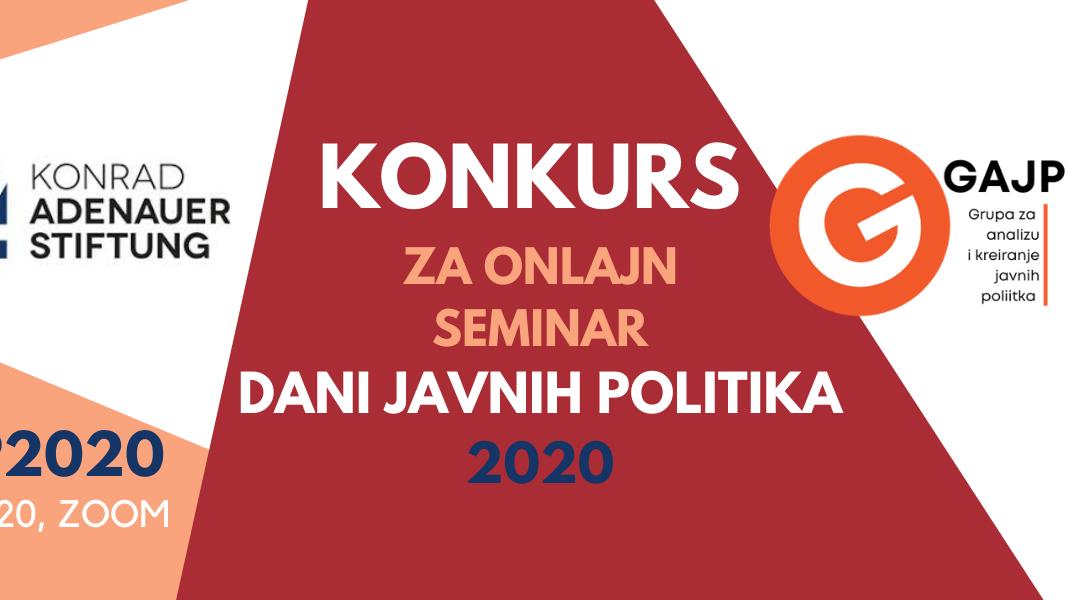 Konkurs za učesnike/ce osmih Dana javnih politika