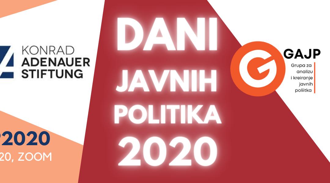 Dani javnih politika 2020 – #DJP2020