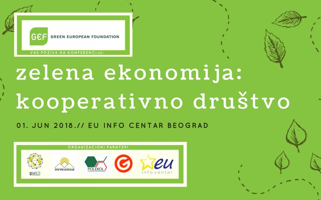 Poziv za konferenciju: Zelena ekonomija – Kooperativno društvo