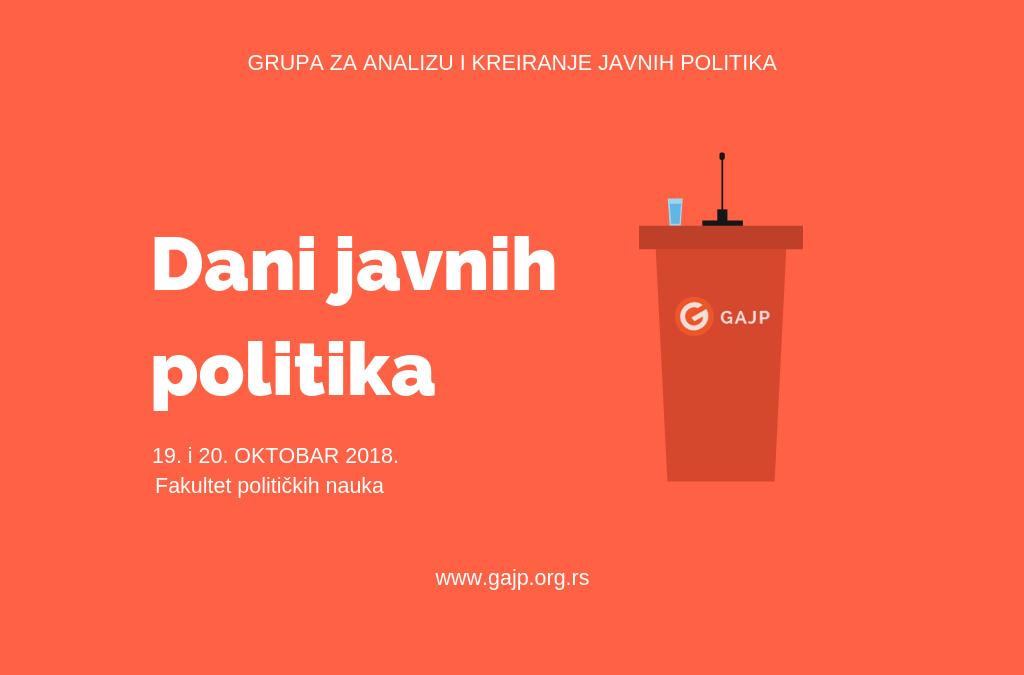 Objavljujemo konkurs za šeste Dane javnih politika