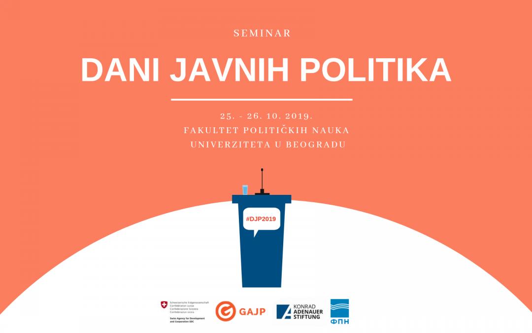 [NAJAVA] Dani javnih politika u Beogradu